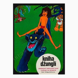 Czech The Jungle Book Film Poster by Vratislav Hlavaty