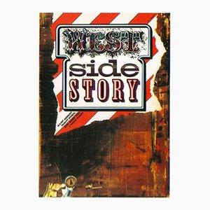 Tschechisches Vintage West Side Story Filmplakat von Zdeněk Ziegler