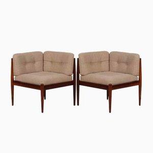 Modul Line Sofa aus Palisander von Kai Kristiansen für Magnus Olesen, 1960er