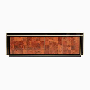 Vintage Burl Credenza by Willy Rizzo
