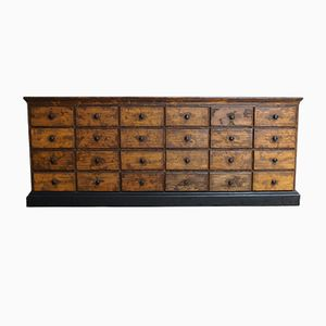 French Pine Apothecary Cabinet, 1900s