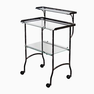 Vintage Swedish Dentist Trolley in Brushed Steel from KIFA