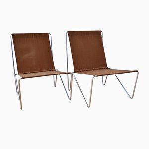Skandinavische Vintage Bachelor Stühle von Verner Panton für Fritz Hansen, 2er Set
