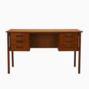 Teak Desk with Drawers by Gunnar Nielsen Tibergaard, 1960s