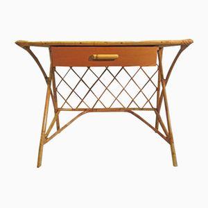 Rattan Schreibtisch, 1960er