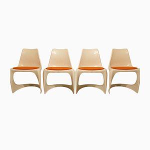 Dänische Esszimmerstühle von Steen Østergaard für Cado, 1970, 4er Set