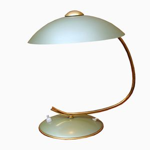 Mint Colored Desk Lamp with Swiveling Shade, 1950s