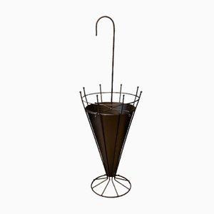 Französischer Metall Schirmständer, 1950er