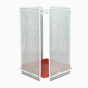 French Bauhaus Perforated Umbrella Stand, 1960s