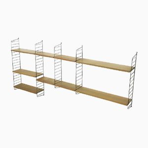 Swedish Ash Wall Unit by Nisse Strinning for String, 1960s