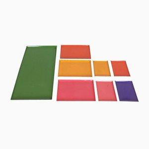Multicolored Swedish Trays, 1960s, Set of 8