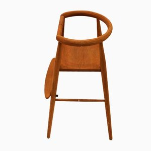Mid-Century 115 Oak High Chair by Nanna Ditzel for Mogens Kold