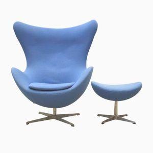 Egg Chair & Ottoman von Arne Jacobsen für Fritz Hansen, 1979