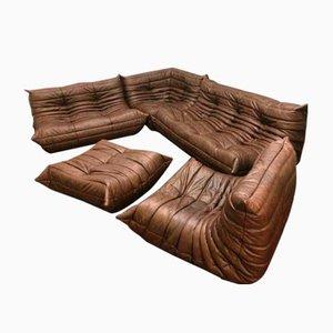 Vintage Togo Leather Living Room Set by Michel Ducaroy for Ligne Roset