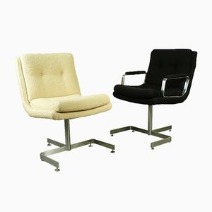Desk Arm Chair & Chair by Raphael Raffel, 1960s
