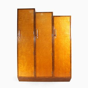 Art Deco Wardrobe in Karelian Birch, 1930s