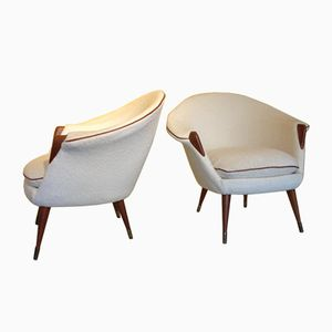 Mid-Century Danish Armchairs by Nanna and Jorgen Ditzel, 1950s, Set of 2