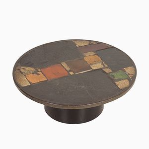 Round Multi-Colored Coffee Table from Paul Kingma, 1970s