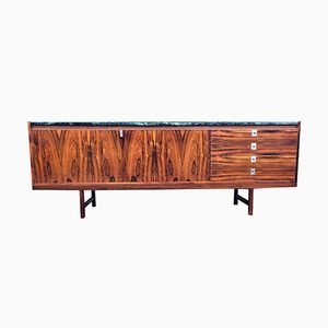 Rosewood and Green Marble Sideboard by Robert Heritage for Archie Shine, 1960s