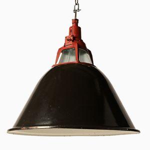 Lampe à Suspension Industrielle Vintage Rouge, Ukraine
