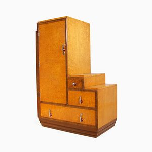 Art Deco Cabinet in Karelian Birch, 1930s