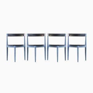 Sedie da pranzo vintage blu di Hans Olsen per Frem Røjle, Danimarca, set di 4