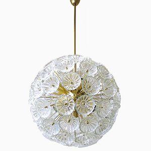 Deutscher Mid-Century Starburst Sputnik Kronleuchter mit 79 Glasblumen, 1965