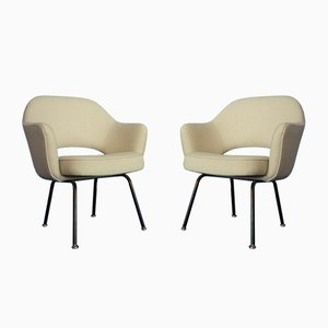Mid-Century Conference Chairs by Eero Saarinen for Knoll International, 1950s, Set of 2