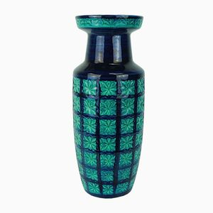 German Turquoise-Blue Vase from Scheurich, 1960s