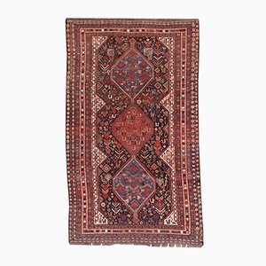 Antique Persian Khamseh Handmade Rug, 1880s