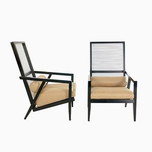 Vintage Astoria Lounge Chairs by Franco Bizzozzero for Pierantonio Bonacina, 1999, Set of 2