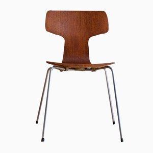 Dänischer Mid-CenturyTeak Modell 3103 Hammer Stuhl von Arne Jacobsen für Fritz Hansen, 1963