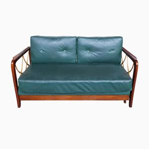 Green Leather Daybed, 1948