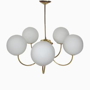 Mid-Century Ceiling Light in Brass, 1960s