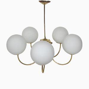 Mid-Century Messing Deckenlampe, 1960er