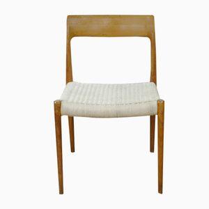 Chaise Model 77 en Teck par Niels Otto Møller pour J.L. Møllers, 1960s