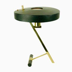 Schwarze Mid-Century Messing Tischlampe von Louis Kalff für Philips, 1950er