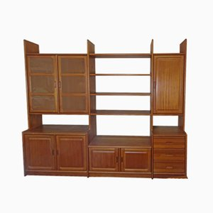 Vintage Danish Teak Wall Unit from Dyrlund, 1970s