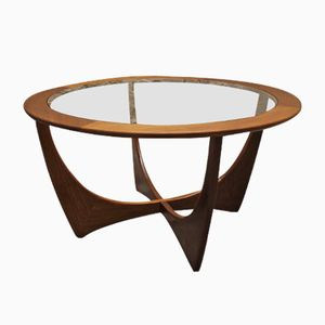Mid-Century Teak and Glass Round Astro Coffee Table by Victor Wilkins for G-Plan
