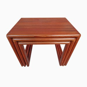 Mid-Century Teak Nesting Tables from Dyrlund, 1970s