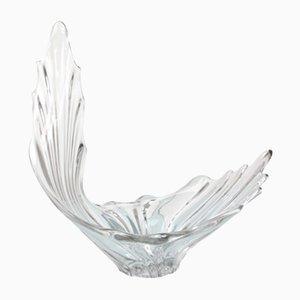 Skulpturale Mid-Century Kristallglas Vase