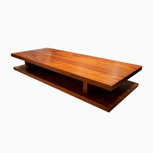 Grande Table Basse Rectangulaire en Noyer, 1970s