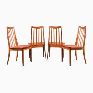 Vintage Fresco Esszimmerstühle aus Massivem Teak von G -Plan, 4er Set