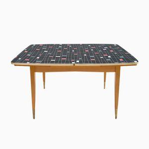 Mid-Century Multicolored Height Adjustable Table