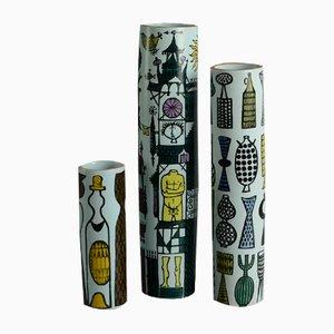 Vases en Faïence par Stig Lindberg pour Gustavsberg, 1960s, Set de 3