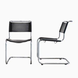 Vintage S33 Stühle von Mart Stam für Thonet, 2er Set