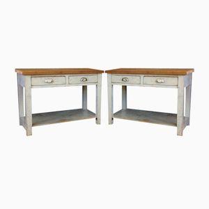Industrial Workshop Desks, Set of 2
