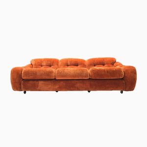 Vintage Italian Poppy Three-Seater Sofa, 1960s