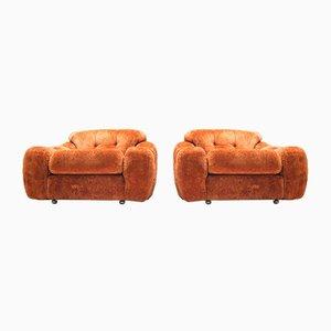 Vintage Italian Poppy Lounge Chairs, 1960s, Set of 2