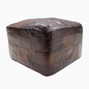 Vintage Leather Patchwork Stool from de Sede